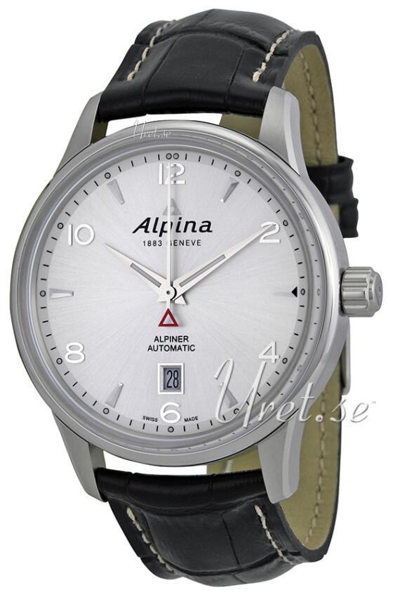 Bilde av Alpina Alpiner Herreklokke Al-525s4e6 Sølvfarget/lær Ø41.5 Mm