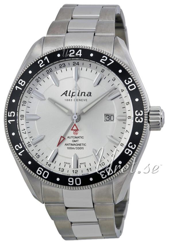 Bilde av Alpina Alpiner Herreklokke Al-550s5aq6b Sølvfarget/stål Ø44 Mm
