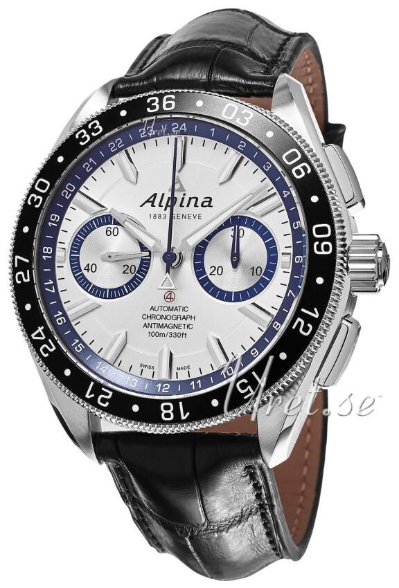 Alpina Alpiner Herreklokke AL-860AD5AQ6 Sølvfarget/Lær Ø44 mm - Alpina