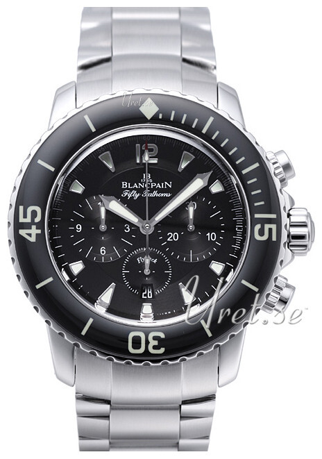 Blancpain Fifty Fathoms Herreklokke 5085F-1130-71S Sort/Stål Ø45 mm - Blancpain