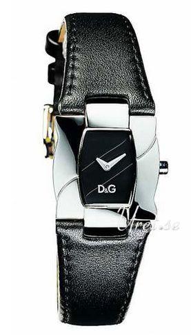 Dolce & Gabbana D&G Dameklokke DW0614 Sort/Lær Ø25 mm - Dolce & Gabbana D&G