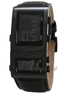 Dolce & Gabbana D&G Herreklokke DW0360 LCD/Lær 38x30 mm - Dolce & Gabbana D&G