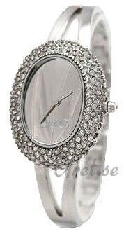 Dolce & Gabbana D&G Dameklokke DW0279 Sølvfarget/Stål 40x32 - Dolce & Gabbana D&G