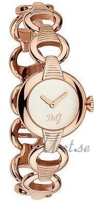 Dolce & Gabbana D&G DW0344 Hvit/Rose-gulltonet stål Ø25 mm - Dolce & Gabbana D&G