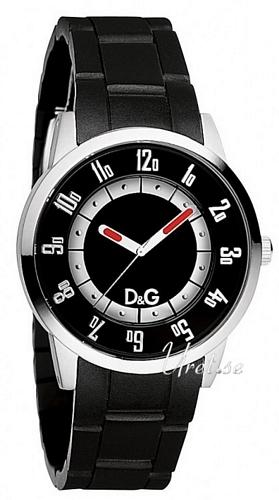 Dolce & Gabbana D&G Bariloche Herreklokke DW0626 Sort/Gummi - Dolce & Gabbana D&G