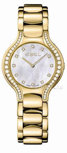 Ebel Beluga Lady Dameklokke 1215874 Hvit/18 karat gult gull Ø30 mm - Ebel
