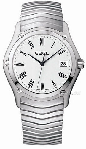 Ebel Classic Gent Herreklokke 1215438 Hvit/Stål Ø37.3 mm - Ebel