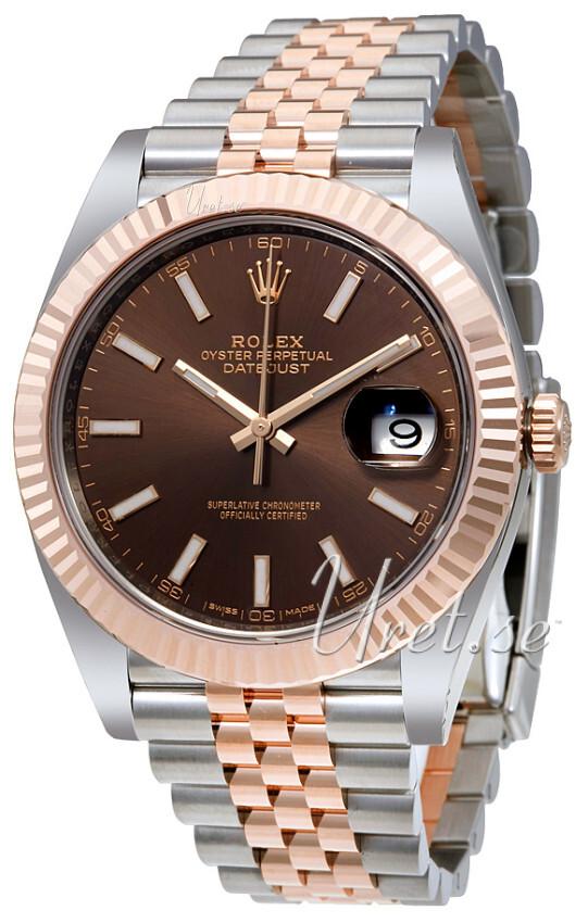 Rolex Datejust41 Herreklokke 126331-0002 Brun/18 karat rosé gull - Rolex