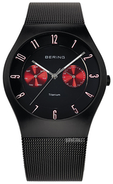 Bering Titanium Sort/Titan Ø39 mm 11939-229