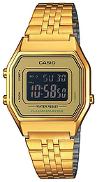 Casio Casio Collection LCD/Gulltonet stål 33.5x28.6 mm LA680WEGA-9BER