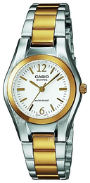 Casio Casio Collection Hvit/Gulltonet stål Ø25 mm LTP-1280PSG-7AEF
