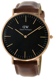 Daniel Wellington Classic Black Durham Sort/Lær Ø40 mm DW00100126