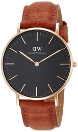 Daniel Wellington Classic Black Durham Sort/Lær Ø36 mm DW00100138