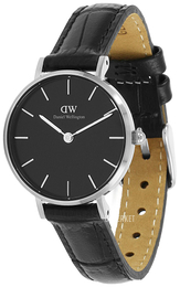 Daniel Wellington Classic Petite Reading Sort/Lær Ø28 mm DW00100235