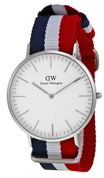 Daniel Wellington Classic Cambridge Antikk hvit/Tekstil Ø40 mm DW00100017