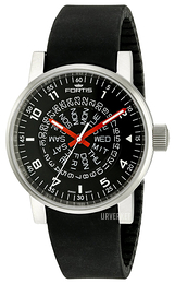 Fortis Spacematic Sort/Tekstil Ø40 mm 623.10.51.Si01