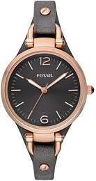 Fossil Georgia Sort/Lær Ø32 mm ES3077