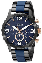 Fossil Casual Blå/Stål Ø50 mm JR1494