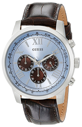 Guess Iconic Blå/Lær Ø45 mm U0380G6