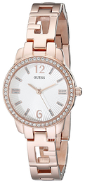 Guess Iconic Hvit/Rose-gulltonet stål Ø27 mm U0568L3