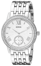 Guess Hvit/Stål Ø39 mm U0573L1