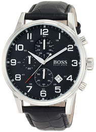 Hugo Boss Aeroliner Sort/Lær Ø44 mm 1512448