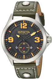 Invicta Aviator Sort/Lær Ø44 mm 22529