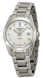 Longines Conquest Ladies Hvit/Stål Ø29.5 mm L2.285.4.87.6