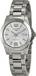 Longines Conquest Ladies Sølvfarget/Stål Ø29.5 mm L3.277.4.76.6