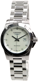 Longines Conquest Ladies Hvit/Stål Ø29.5 mm L3.277.4.87.6