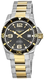 Longines Hydroconquest Sort/Gulltonet stål Ø41 mm L3.742.3.56.7