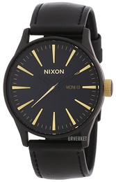 Nixon Sort/Lær Ø42 mm A1051041-00
