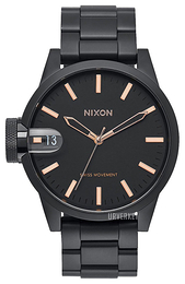 Nixon The Chronicle Sort/Stål Ø44 mm A441957-00