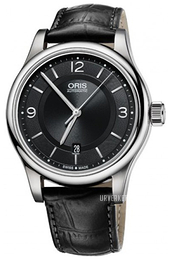 Oris Culture Sort/Lær Ø42 mm 01 733 7594 4034-07 5 20 11