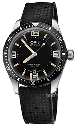 Oris Diving Sort/Gummi Ø40 mm 01 733 7707 4064-07 4 20 18