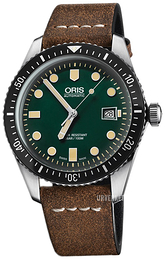 Oris Diving Grønn/Lær Ø42 mm 01 733 7720 4057-07 5 21 02