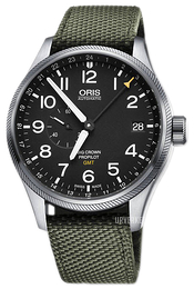 Oris Aviation Sort/Tekstil Ø45 mm 01 748 7710 4164-07 5 22 14FC