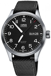 Oris Oris Aviation Sort/Tekstil Ø45 mm 01 752 7698 4164-07 5 22 15FC
