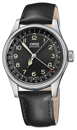 Oris Aviation Sort/Lær Ø40 mm 01 754 7696 4064-07 5 20 51