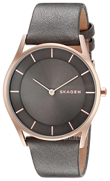 Skagen Holst Grå/Lær Ø34 mm SKW2346
