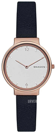 Skagen Ancher Hvit/Lær Ø34 mm SKW2608