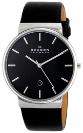 Skagen Ancher Sort/Lær Ø40 mm SKW6104