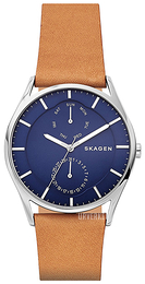Skagen Holst Blå/Lær Ø40 mm SKW6369