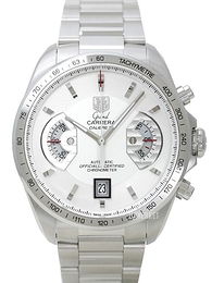 TAG Heuer Grand Carrera Calibre 17 Automatic Chronograph Hvit/Stål Ø43 mm CAV511B.BA0902