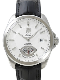 TAG Heuer Grand Carrera Calibre 6RS Automatic Hvit/Lær Ø40.2 mm WAV511B.FC6224