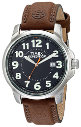 Timex Expedition Sort/Lær Ø40 mm T44921