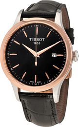 Tissot T-Gold Sort/Lær Ø42 mm T912.410.46.051.00