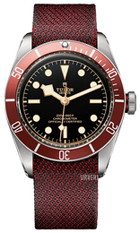 Tudor Heritage Sort/Tekstil Ø41 mm 79230r-0001-fb2