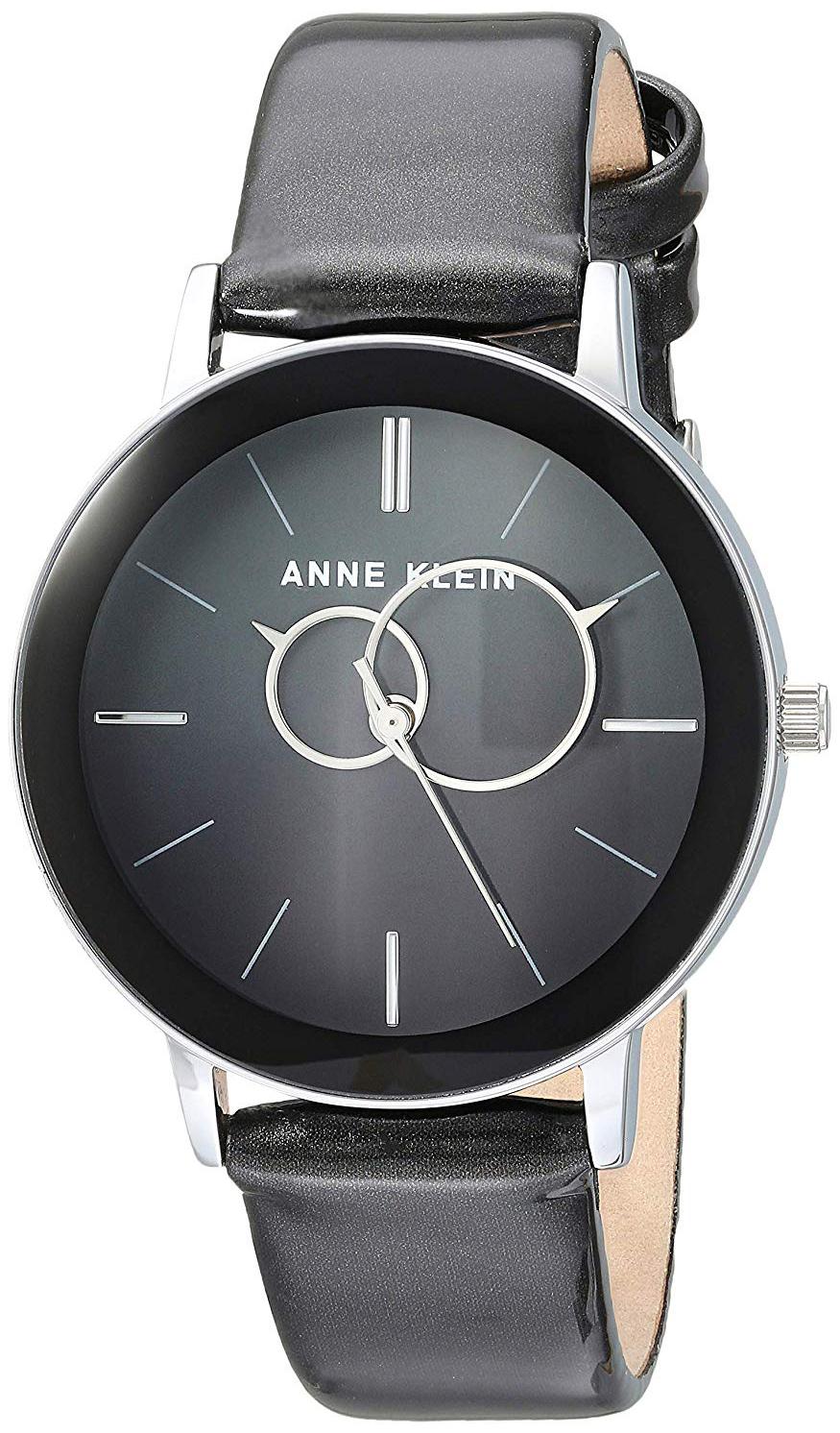 Anne Klein Dress Dameklokke AK/3261BKGY Sort/Sateng Ø34 mm - Anne Klein
