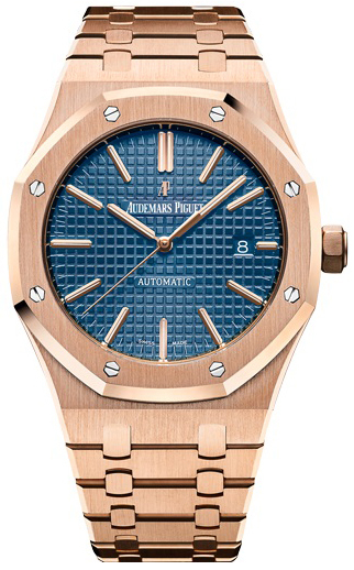 Audemars Piguet Royal Oak Herreklokke 15400OR.OO.1220OR.03 Blå/18 - Audemars Piguet